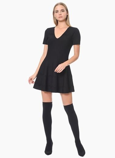 NetWork Mini Kloş Elbise Siyah